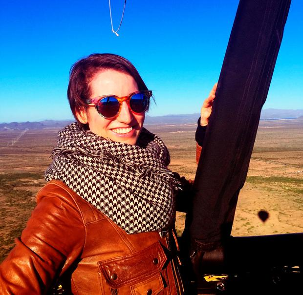 Kirsty Blake Knox hot air ballooning in Arizona