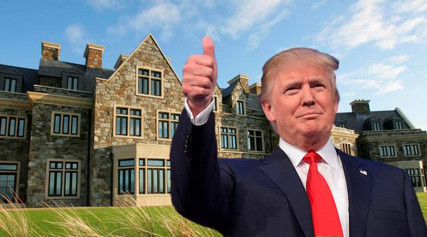 Doonbeg Lodge, with Donald Trump (inset). Composite Image (Photo: MANDEL NGAN/AFP/Getty Images)