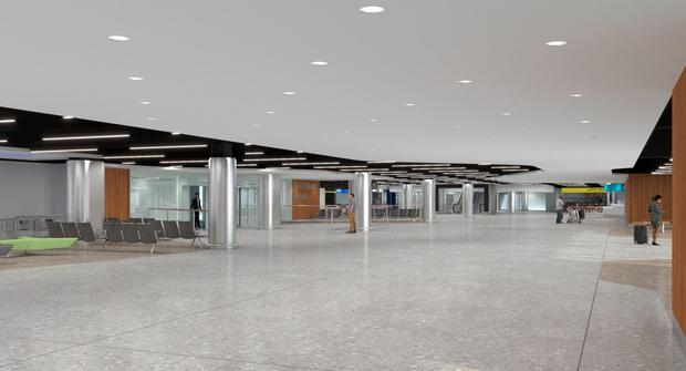 Artist's impression of how Terminal 1 will look after its upgrade is complete.