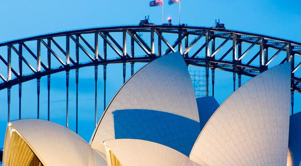 Sydney Opera House and bridge, Australia. Photo: Deposit