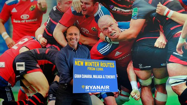 Kenny Jacobs, Ryanair's Chief Marketing Officer, promoting the new winter 2016 routes from Cork.