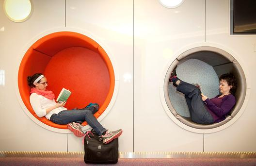 Seating 'pods' at Dublin Airport