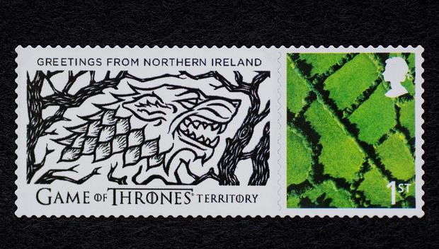 A limited edition Game of Thrones stamp from Tourism Ireland's new Game of Thrones campaign.