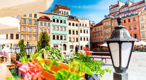 Warsaw's old town square.