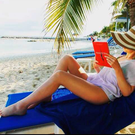 Golden sands: Niamh relaxes at the Grand Palladium Lady Hamilton Resort & Spa.