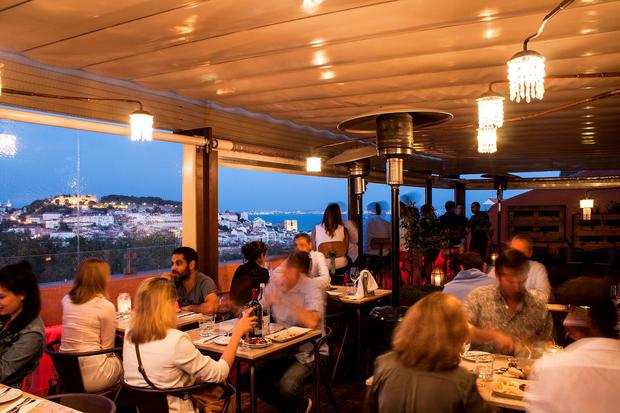 View from the terrace of The Insolito restaurant. PA Photo/Handout.