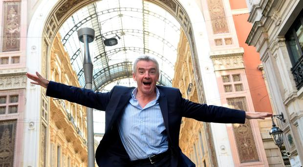 Michael O'Leary, CEO of Ryanair, at a press conference in Milan. Photo: Pier Marco Tacca/Getty Images