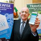 Minister Flanagan launches the new TravelWise smartphone app. Photo: Maxwells