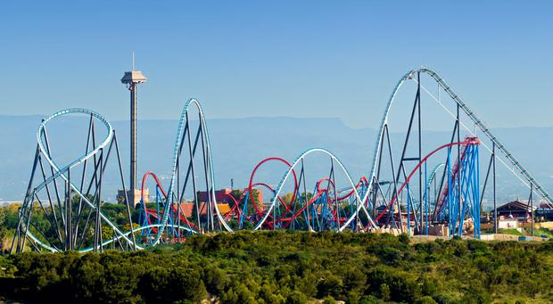 Rollercoasters at Portaventura