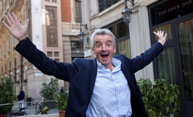 Michael O'Leary, CEO of Ryanair, photographed in Milan in 2016. Photo by Federico Ferramola/NurPhoto via Getty Images