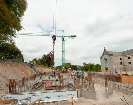 Construction underway at Adare Manor, Co. Limerick