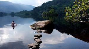 Glanmore Lake, Co. Kerry. © Paul McCambridge - MAC Visual Media. From Wild Swimming in Ireland – Discover 50 Places to Swim in Rivers, Lakes and the Sea, by The Collins Press, 2016