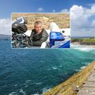 Matt LeBlanc (inset, Photo: Tourism Ireland/BBC) With the Slea Head Drive, Dingle (Photo: Deposit).