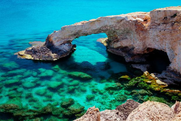 Sea arch near Ayia Napa, Cyprus. Photo: Deposit