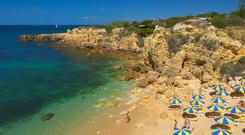 Do Castelo Beach, Albufeira. Photo: Education Images/UIG via Getty Images
