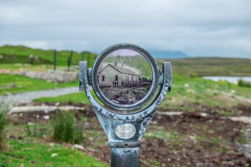 A 'historioscope' at the Wild Atlantic Way Signature Discovery Point of Derrigimlagh. Photo: Pat Moore
