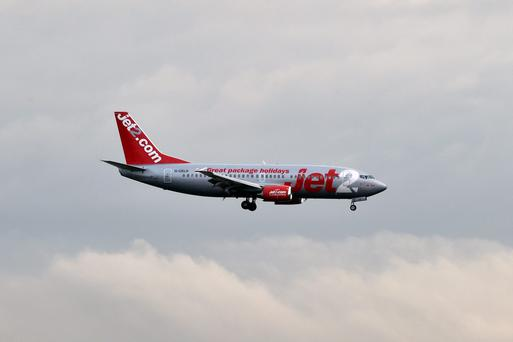 A Jet2 aircraft lands at Toulouse-Blagnac. Photo: PASCAL PAVANI/AFP/Getty Images