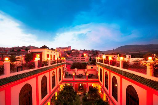 Dusk at Palais Amani in the beautiful city of Fes in Morocco, where Jamie attended the 22nd Fes Festival of World Sacred Music