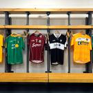 Jerseys in the dressing room at Croke Park