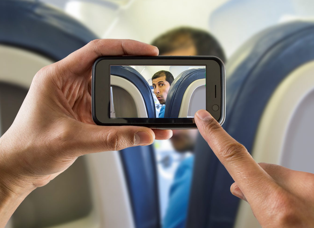 Phones on planes. Photo: Deposit