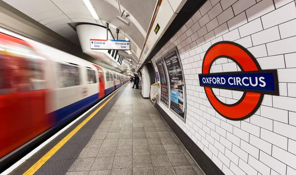 Oxford Circus, on the London Underground