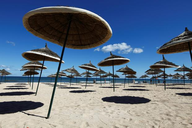 An empty beach in Tunisia. Photo: Getty