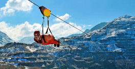 Zip World Velocity, with speeds of over 100mph. Photo: Zipworld.co.uk.
