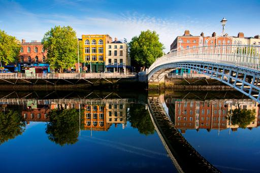 Dublin's Ha'penny Bridge. Photo: Getty.