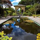 The temple and Italian Garden and pond from the Casita (teahouse) at Garinish Island. Photo: George Munday/Tourism Ireland.