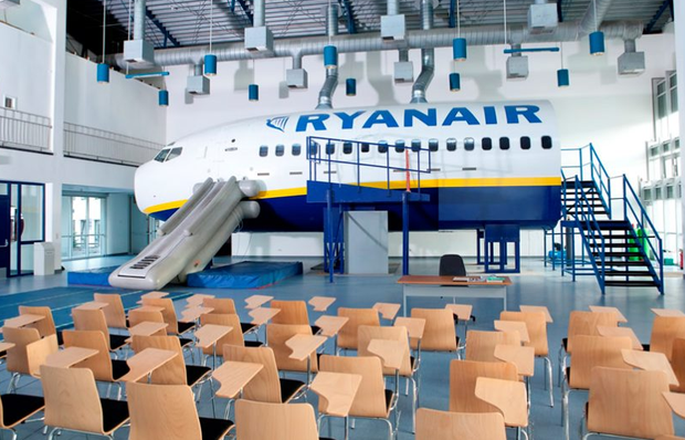 Ryanair's cabin crew training centre in Hahn, Frankfurt. Photo: Crewlink.ie