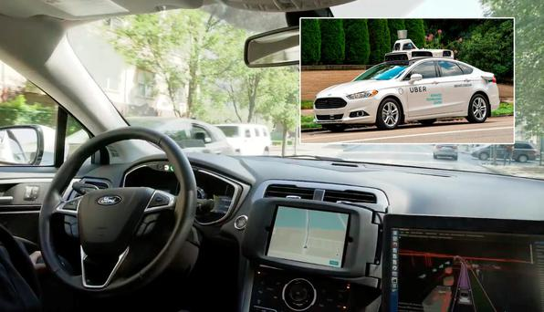 Uber: Inside a Ford Fusion, self-driving car