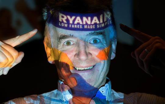 Ryanair's Michael O'Leary at a press conference in London on August 31, 2016. Photo: DANIEL LEAL-OLIVAS/AFP/Getty Images