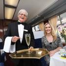 The Emerald Isle Express. Pictured are Megan Virgo with Jimmy McNulty of the Railway of the Preservation Society of Ireland. Photo: Sasko Lazarov/Photocall Ireland