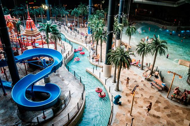 The vast Aquadome at Lalandia offers lots of water-based fun for all ages. PA Photo/Warren Chrismas.