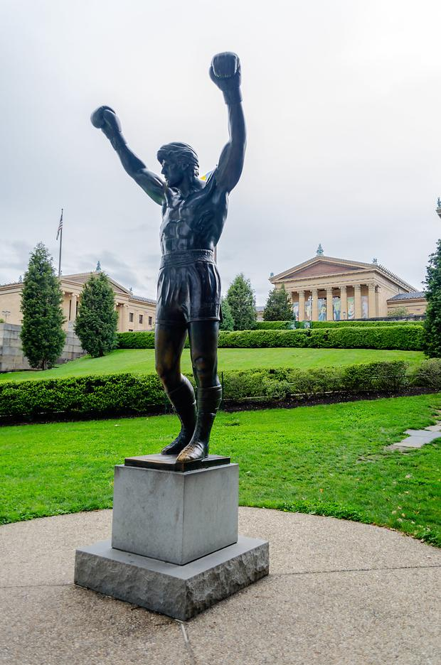 The 10ft Rocky statue
