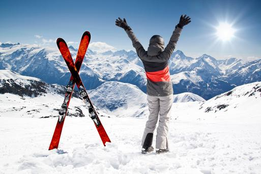 On top of the world: You don't have to be an expert skier to enjoy the many delights of the beautiful French mountains in winter