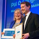 Pól Ó Conghaile pictured at the BGTW Travel Awards at The Savoy in London. Photo: Diana Jarvis