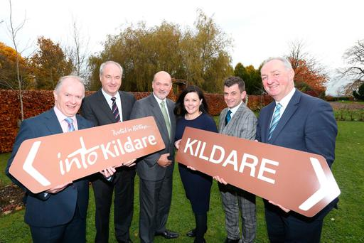Michael Byrne, Acton BV, Tony Lenehan, Kildare Failte, Peter Minnock, Kildare County Council, Phil Donnely, Kildare Failte, Tom Keane IPB Pensions and Peter Carey, CEO, KCC at the launch of Kildare's new digital tourism platform. Photography: Sasko Lazarov/Photocall Ireland
