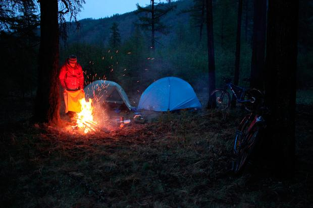 A campfire in Mongolia. Photo: David Flanagan