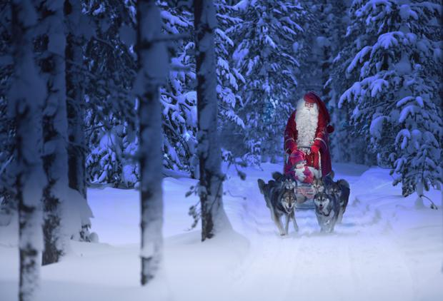 Santa Claus in his official hometown of Rovaniemi