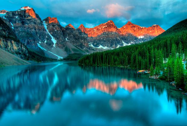 Moraine Lake in Banff National park. Photo: Deposit