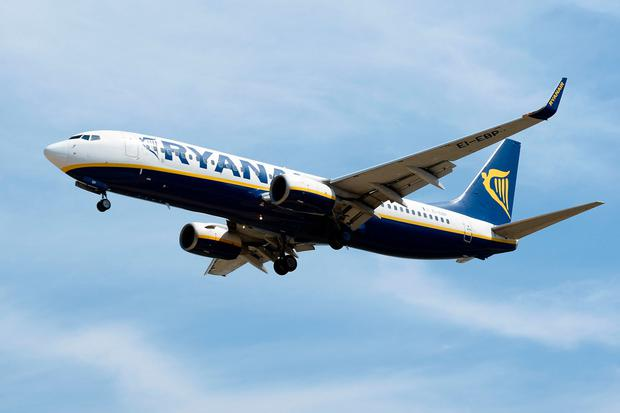 A Ryanair plane prepares to land at Barcelona's El Prat. Photo: JOSEP LAGO/AFP/Getty Images