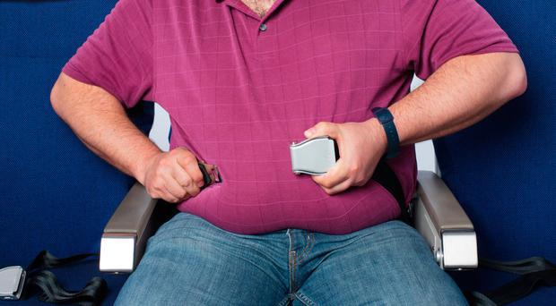 Overweight fliers should pay more and sit in their own section of the plane, survey suggests