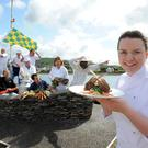 Student chef Liadan Sheehy, at the launch of the Dingle Food Festival. Photo: Don MacMonagle