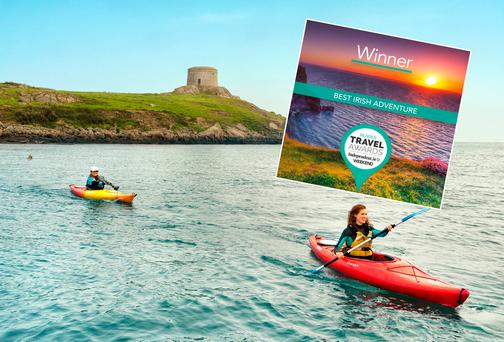 Group Kayaking at Dalkey Islands, Dublin
