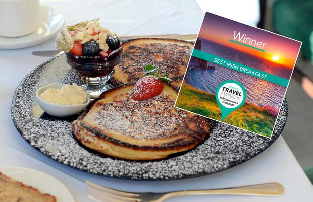 Pancakes at Castlewood House, Dingle. Photo: Don MacMonagle