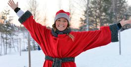 Annu-Roosa, one of Lapland's enthusiastic guides. Photo: Pól Ó Conghaile
