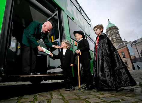 Dublin characters launch the DoDublin rebrand. Photo Chris Bellew / Fennell Photography
