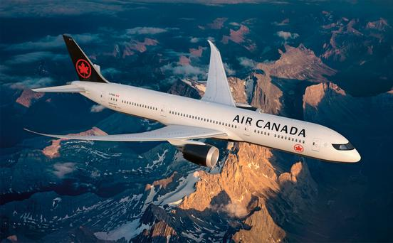 Air Canada's new livery
