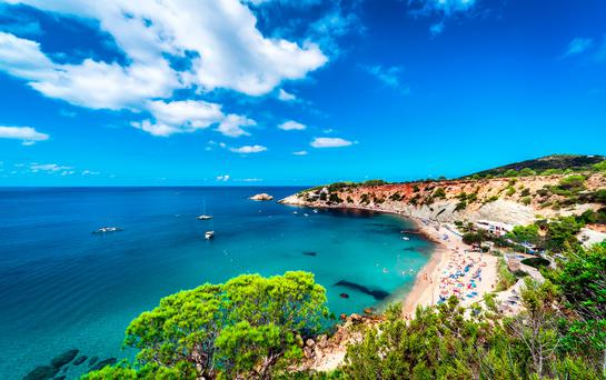 Cala d'Hort beach in Ibiza. Photo: Deposit